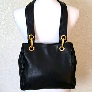 Giani Bernini black leather shoulder bag
